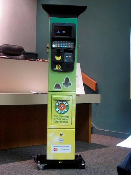 The new parking meters will offer residents coupons when they go to pay for their parking.