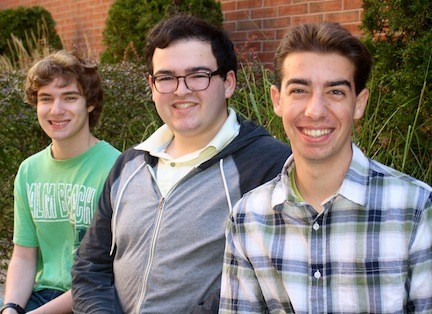 Lynbrook High School students Daniel Gomm, left, Joshua Tierney and Matthew Paris have been named All-State musicians.
