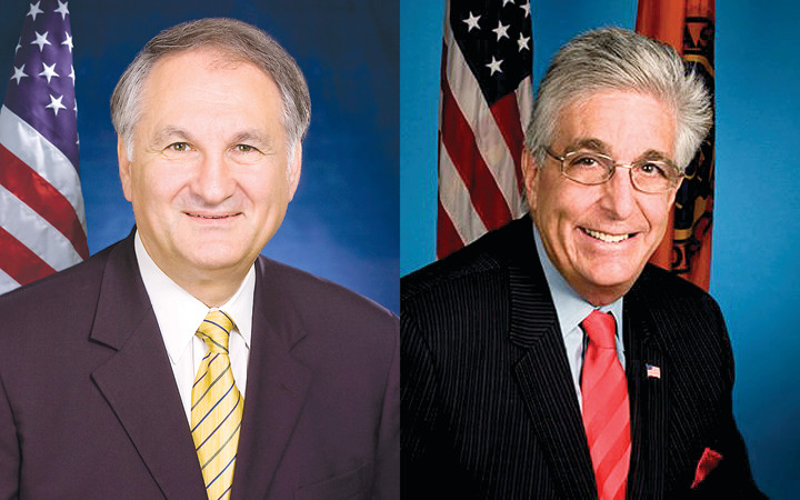 George Maragos, right, and Howard Weitzman will be facing off for the second time for Nassau County comptroller, this time with Maragos as the incumbent.