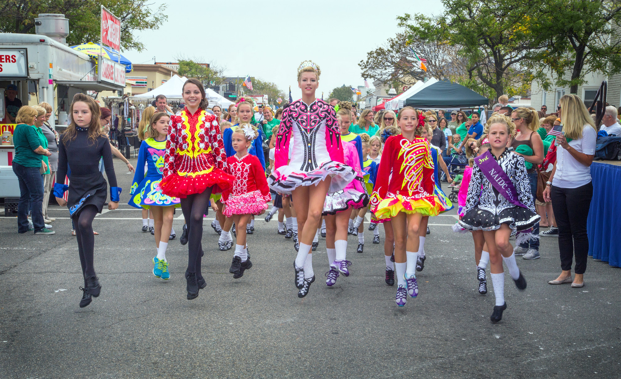 Girls from the Hagen School of Irish Dance performed traditional Irish dances during the parade.