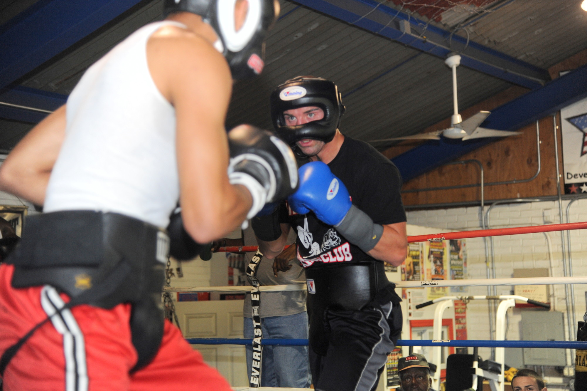 Seanie Monaghan sparred at the Freeport PAL last week as he trained for Saturday