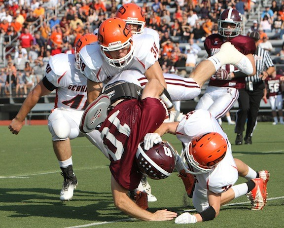 Carey's defense was stifling in last Saturday's 28-0 victory over rival Garden City.