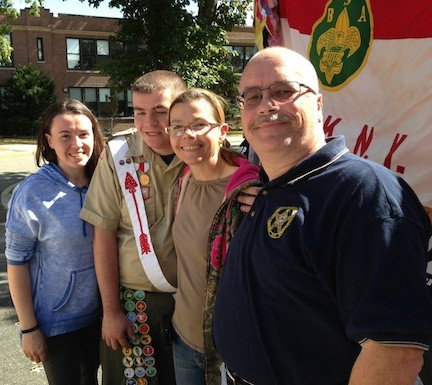 Alexander Eagen of Merrick, second from left, was diagnosed with an autism spectrum disorder at age 2, but he grew up to earn the Boy Scouts