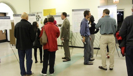 Residents visited four stations where they were asked for their input on reconstruction process.
