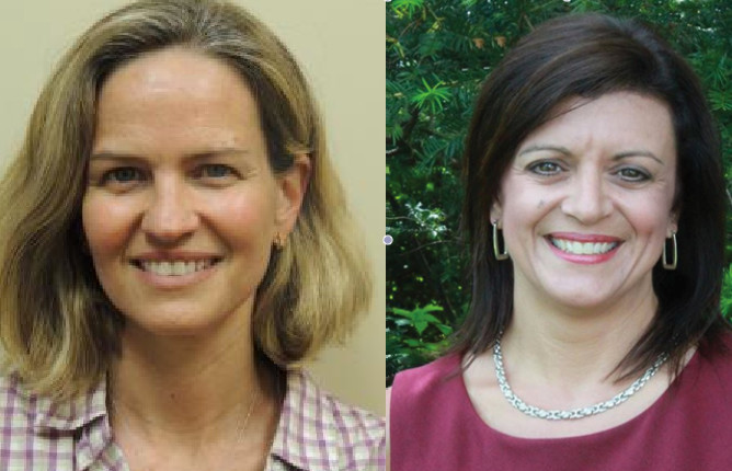 Laura Curran, Democrat, left, and Debbie Pugliese, Republican.