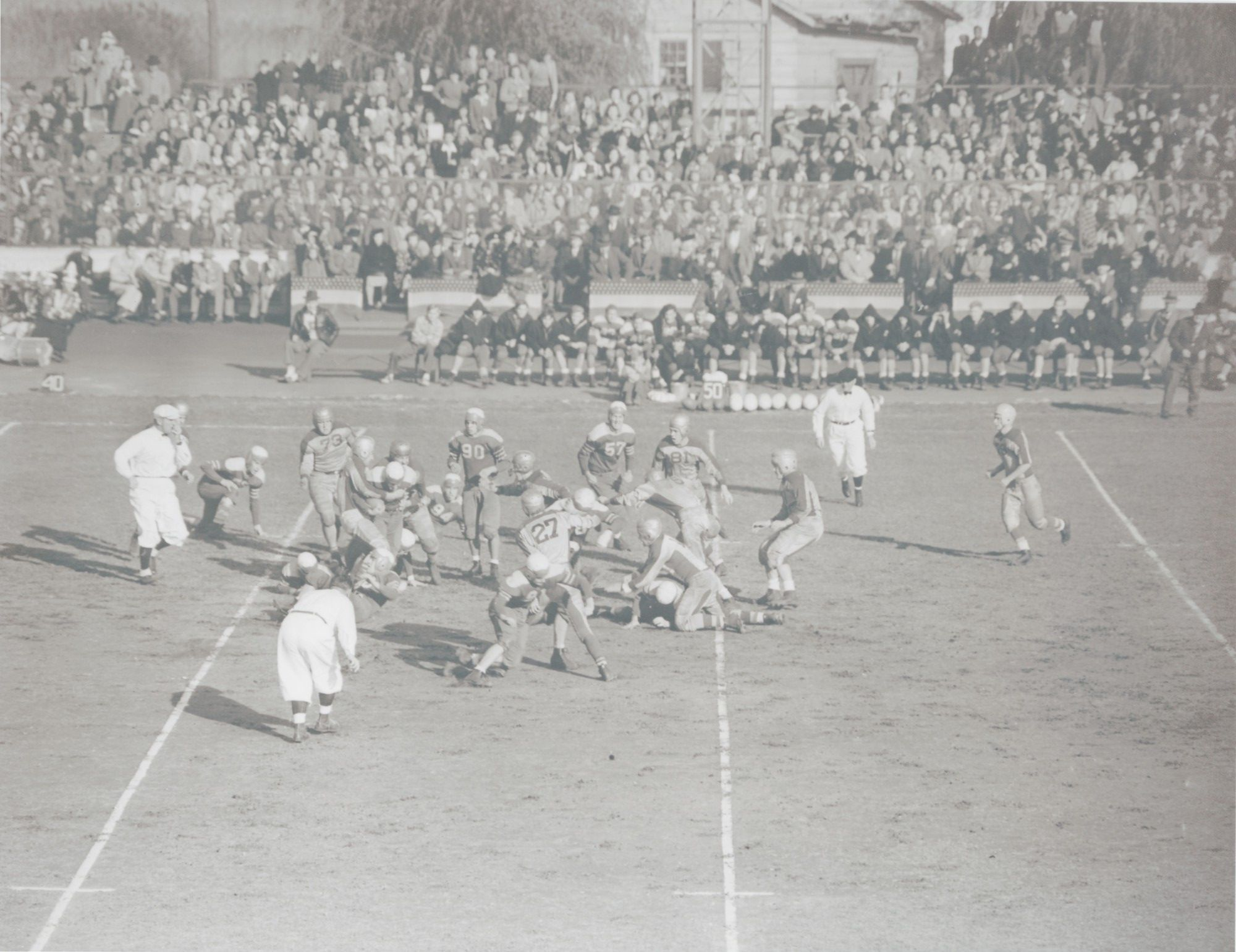 A Freeport Baldwin game in the 1940s was played at Freeport municipal Stadium.