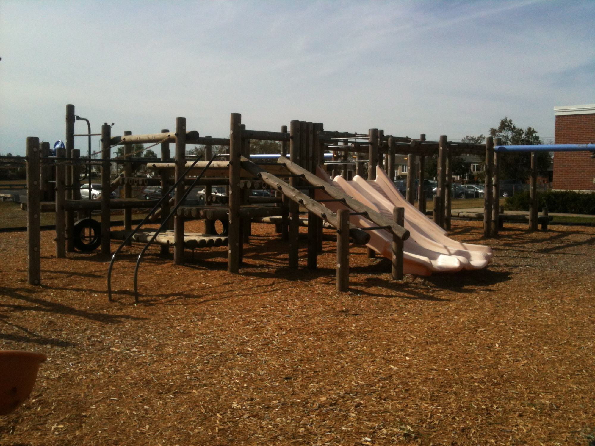 BIG TOY WAITS FOR A FACELIFT: The Mandalay Playground committee would like to see a new playground by next summer. The playground committee includes Sharon George, Dorin Stein Max Russo, Mark Salerno and Heather Mondell.