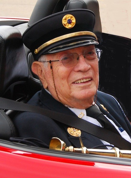 Nelson Finkelman during the 2012 6th Battalion Parade, hosted by the East Meadow Fire Department.