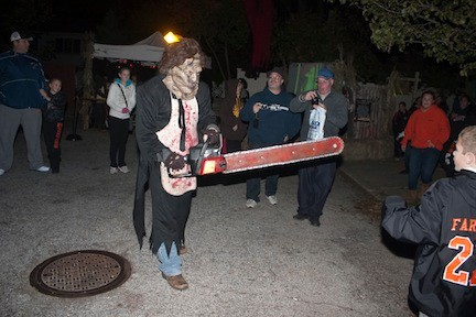 A frightful welcome awaits visitors to the Franklin Square Horror.