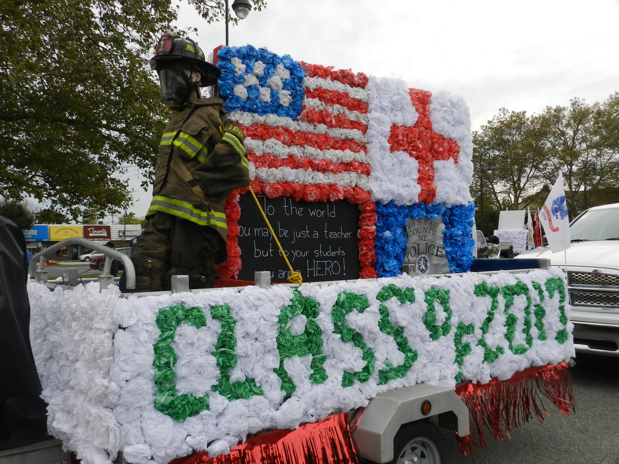 SEAFORD HOMECOMING: The Seaford High School freshman class wins the float contest by incorporating the Homecoming theme