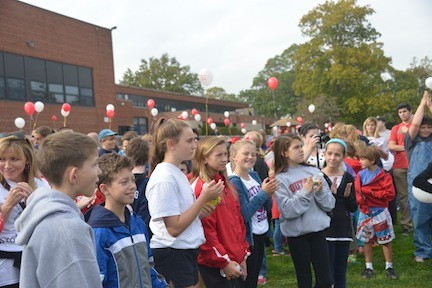 Students from all over Rockville Centre participated in the walk.