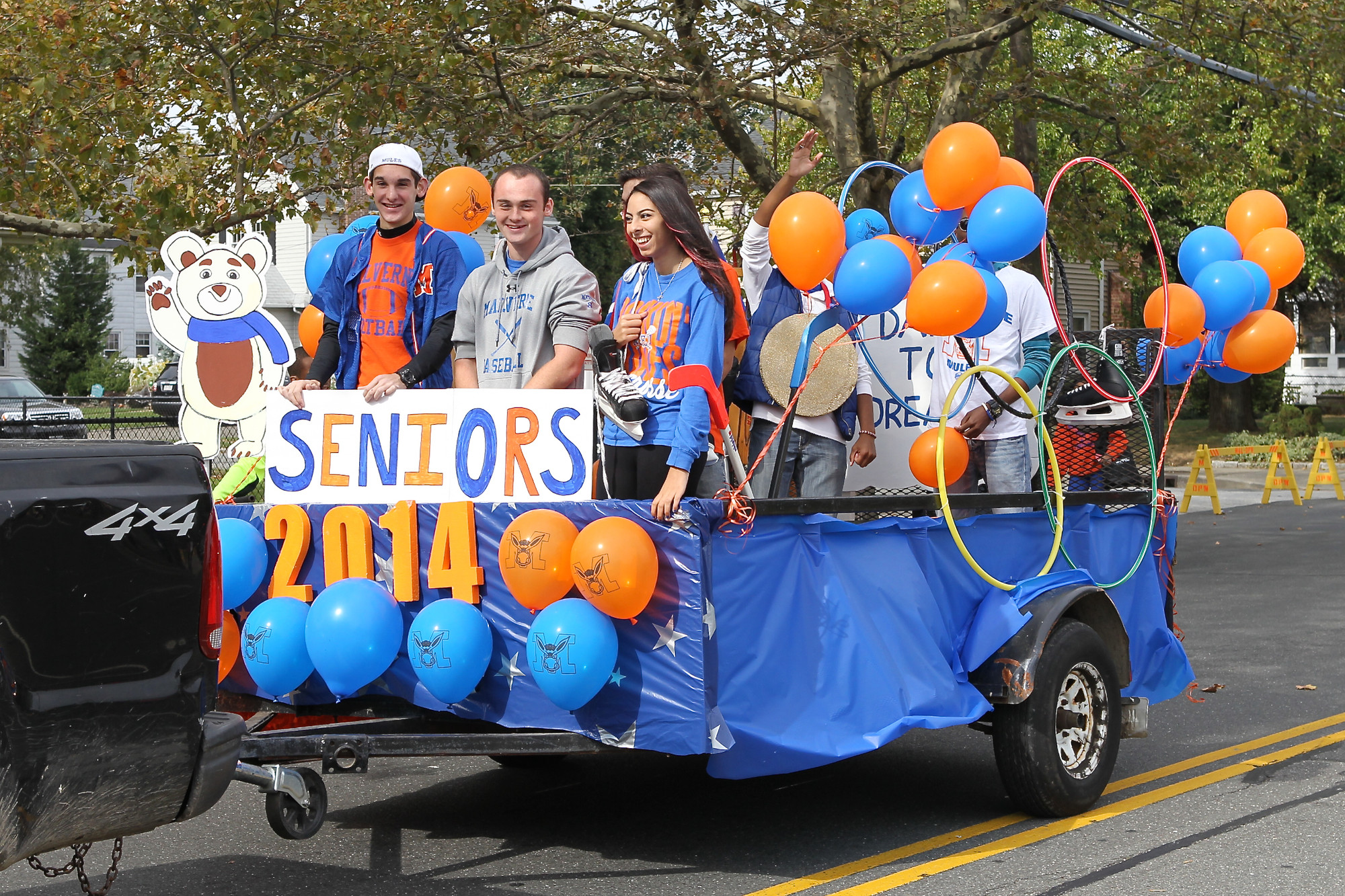 Malverne High Seniors led the way for their last homecoming game.