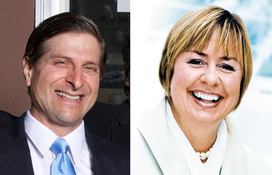Felix Procacci and Kate Murray are vying for the Town of Hempstead supervisor's post this year.