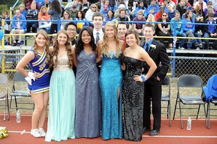 East Meadow's homecoming court