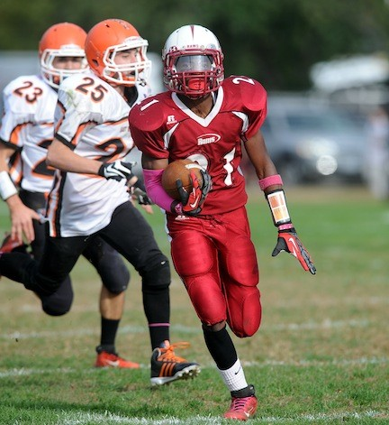 Clarke's Nestor Haddo bolted past East Rockaway defenders on Saturday.