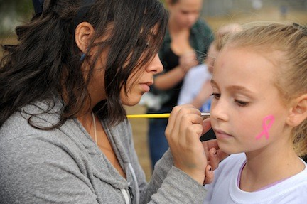 Face-painting was big at Calhoun's Homecoming.