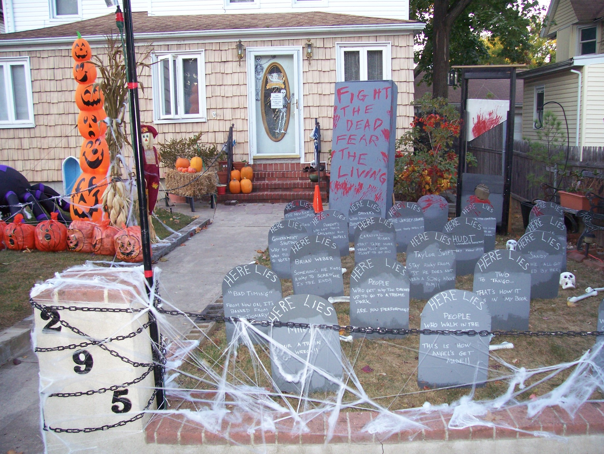 Cedarhurst resident Mark Sarro has ghoulishly decorated the outside of his house at 295 Washington Ave. for Halloween for the past 14 years.