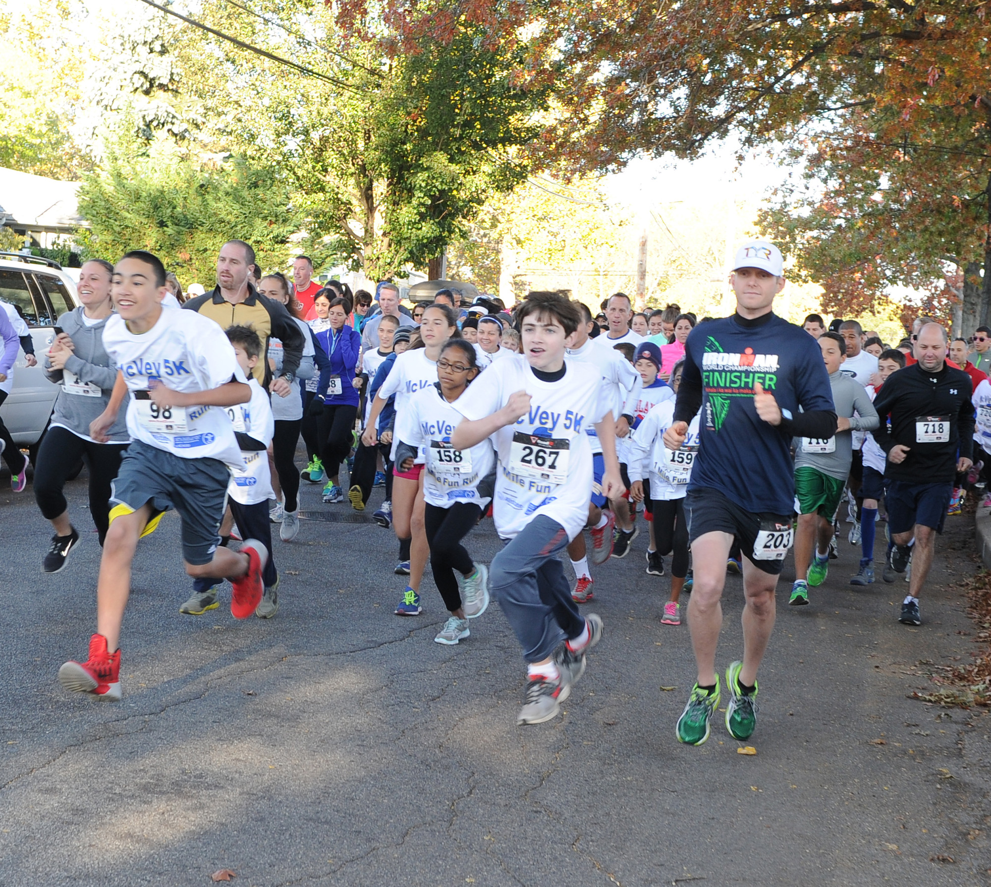 The McVey Elementary School inaugural 5K race and 1-mile fun run hit East Meadow Streets last Sunday, with nearly 400 runners competing in the two races.