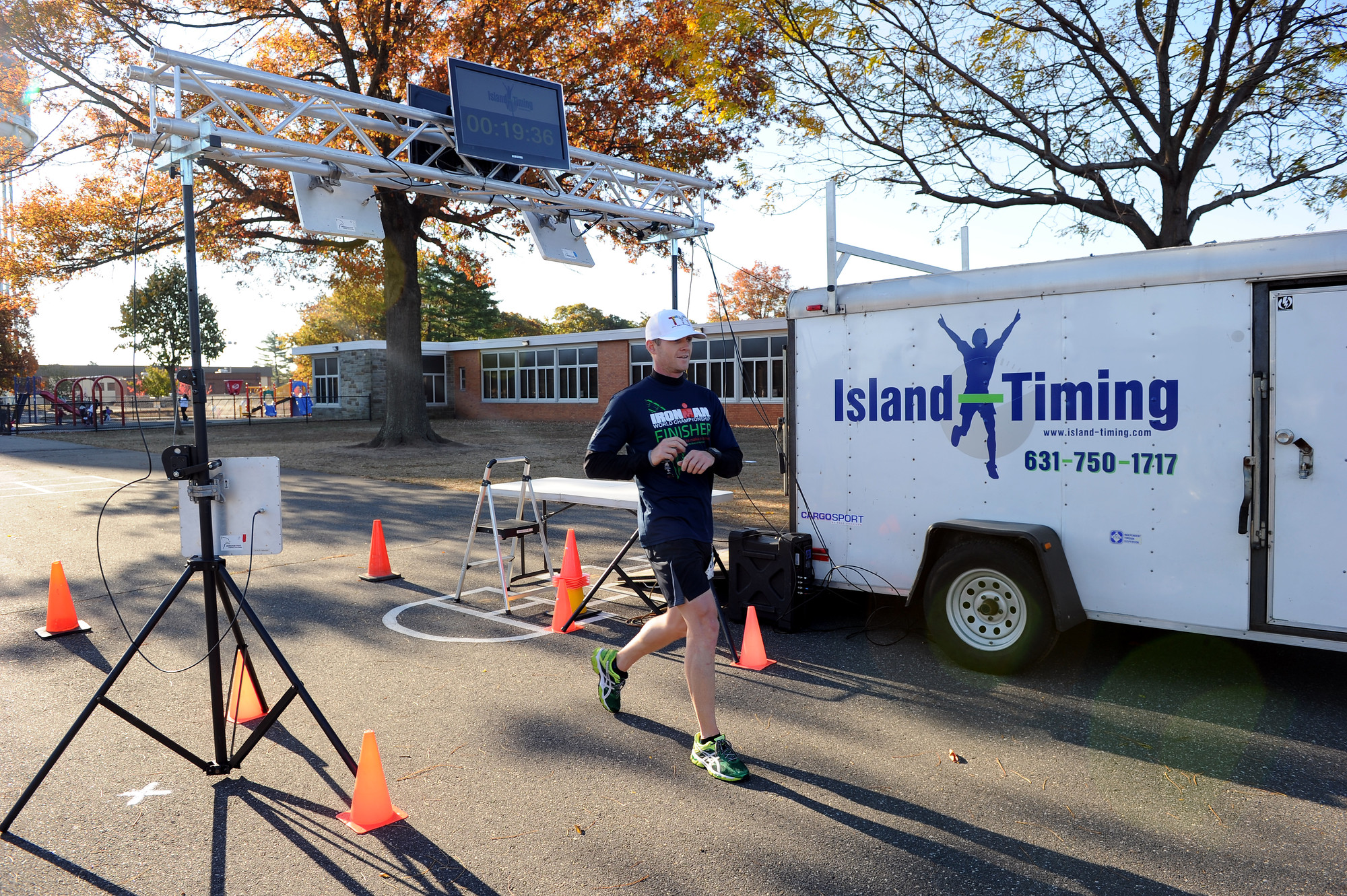 Joe Redmond, 33, of Rockaway Park was first to cross the finish line at 19 minutes, 35 seconds