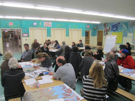 Merokeans and Bellmorites sat in the cafeteria of Shore Road School in south Bellmore, brainstorming ideas on how to protect their communities