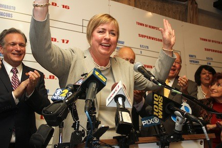 Kate Murray celebrated her victory at Republican headquarters Tuesday night.