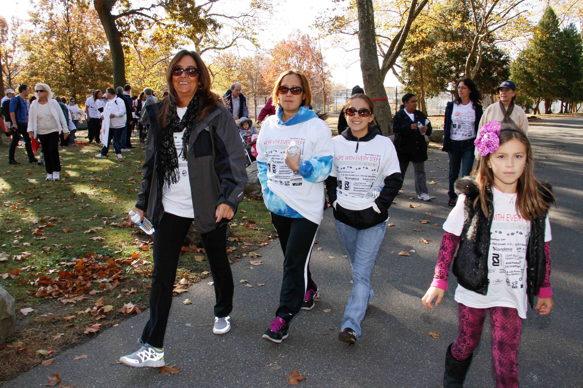 The Family Fun Walk drew about 80 people to Hendrickson Park.