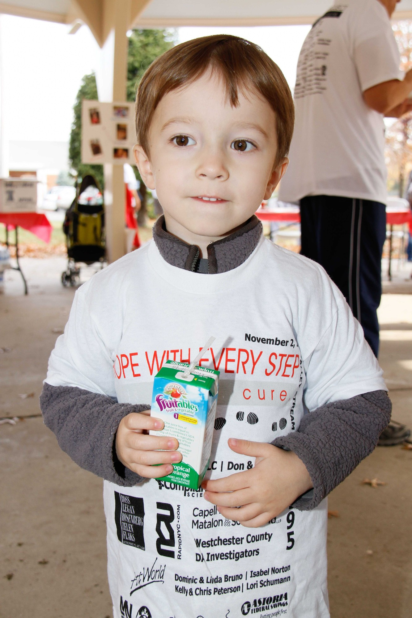 Benjamin Golbig, 3, was one of the youngest walkers.