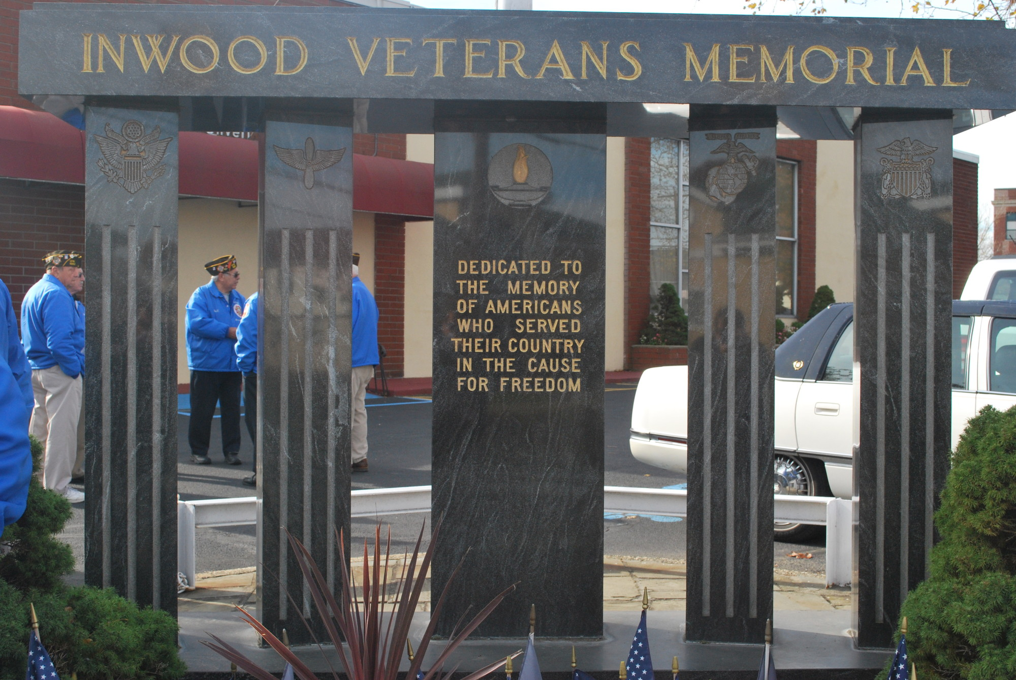 Post 1582's monument dedicated to the memory of those who served in the U.S. military.