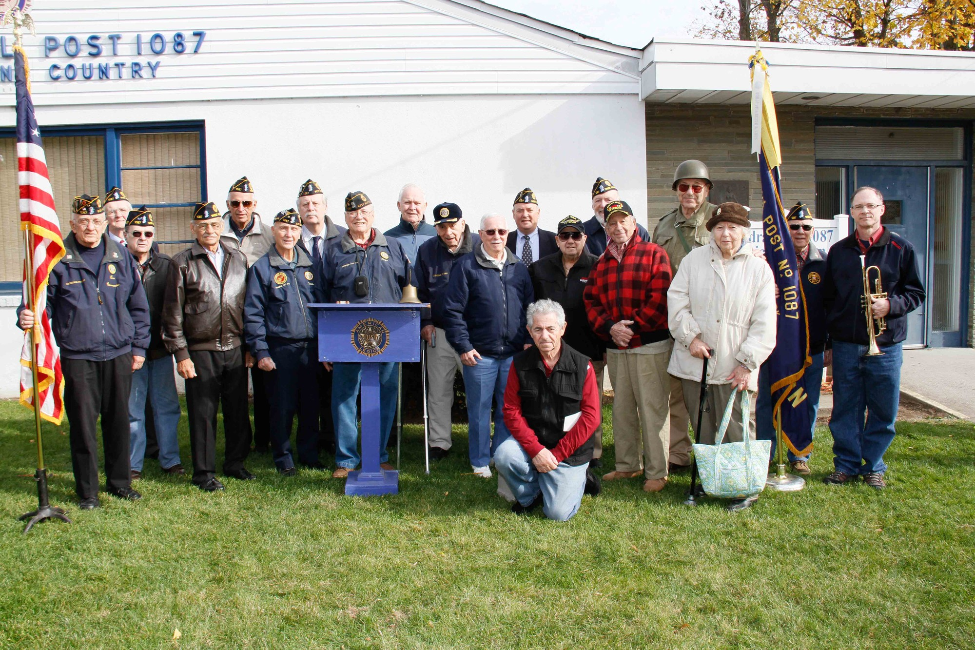 West Hempstead veterans and residentsgathered outside American Legion Cathedral Post 1087 for this year