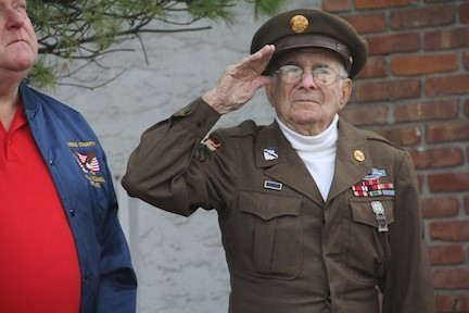 David Marshall, an Army veteran who fought in the Battle of the Bulge in Germany during WWII.