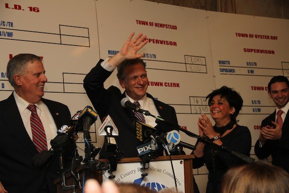 County Executive Ed Mangano won another four years in office, which experts say is attributable to his simple and relatable message to voters.