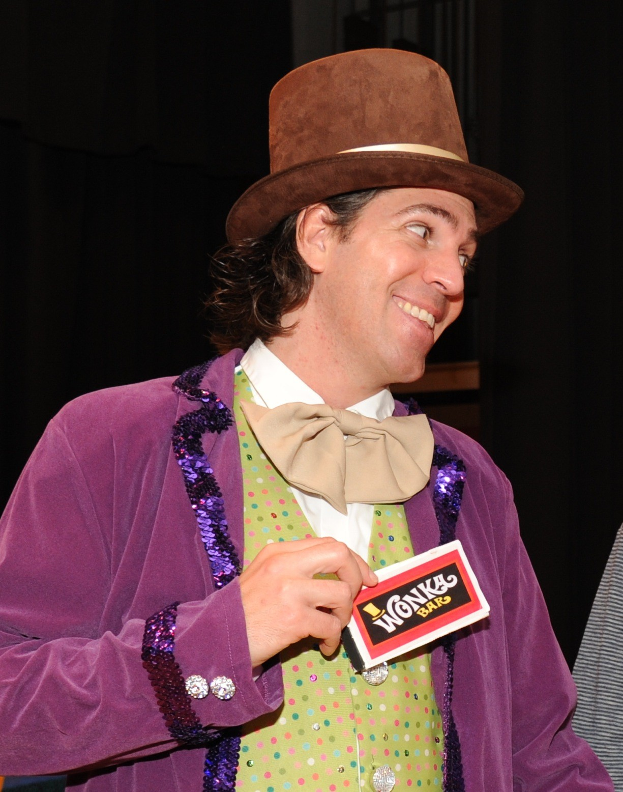 Willie wonka is played by Sal Canepa of Oceanside.
