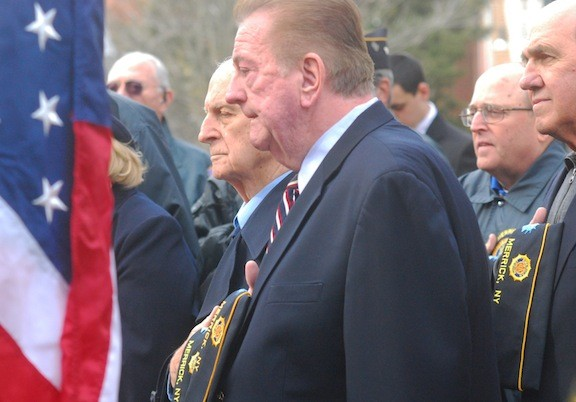 Jim O'Neill, Post 1282's second vice commander, saluted America's veterans.