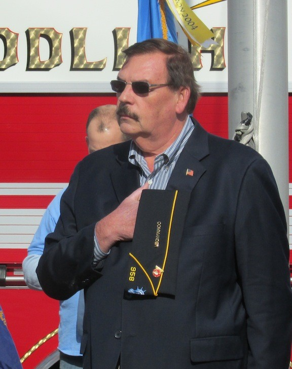 John Johnson at the recent Veterans Day ceremony in East Rockaway.