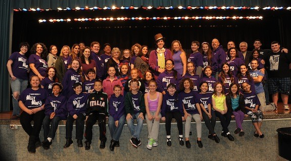 "The cast of Island Park Theatre Group's ""Willy Wonka the Musical,"" now being staged at Lincoln Orens Middle School."