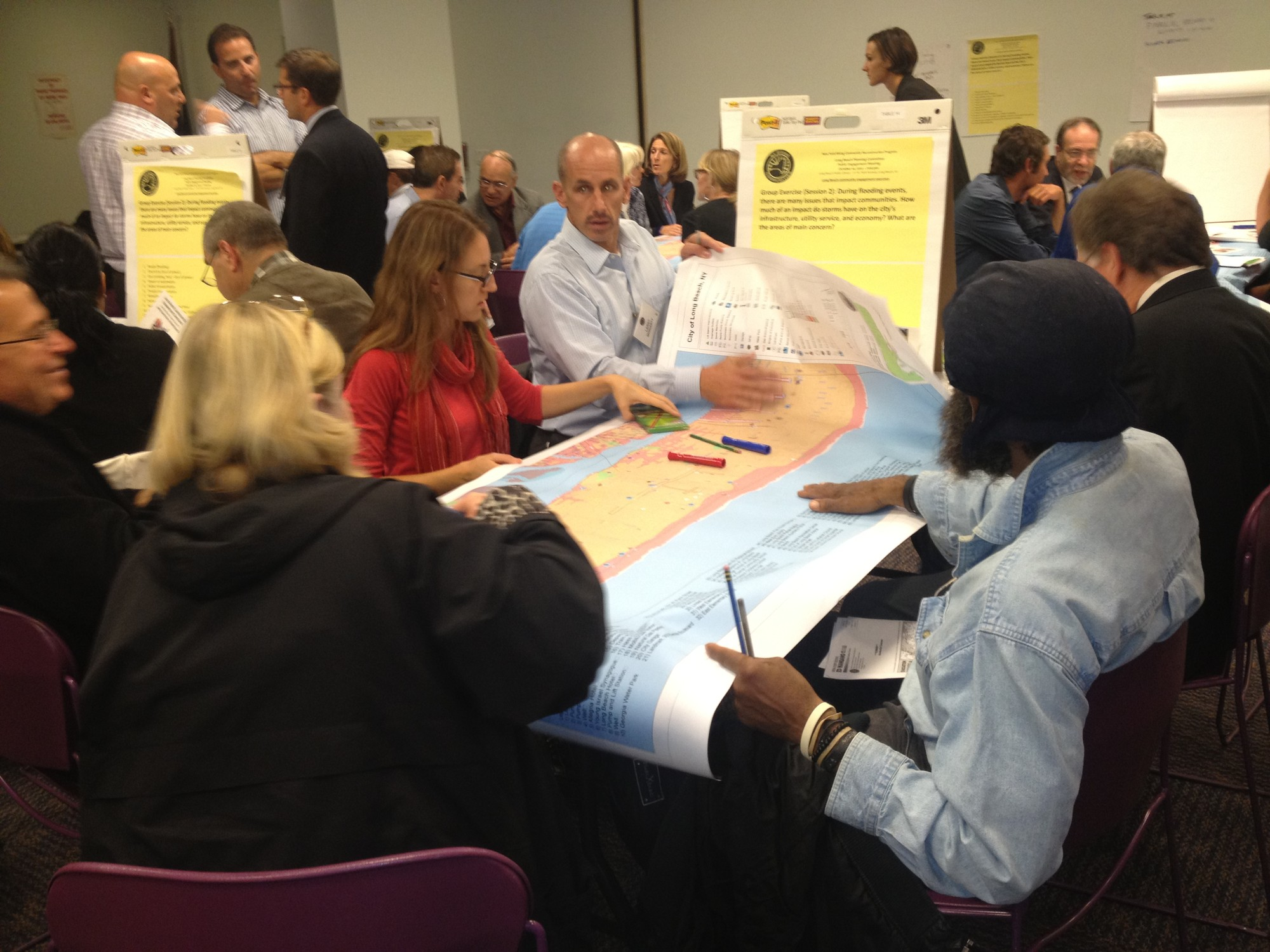 Residents discussed a number of long-term rebuilding and economic development strategies.