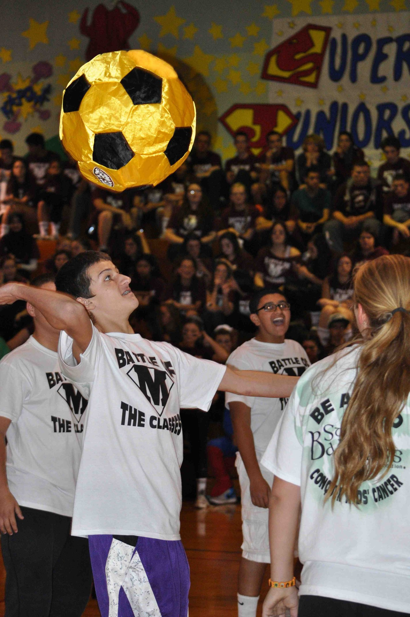 During Battle of the Classes, the freshmen took on the sophomores in volleyball.