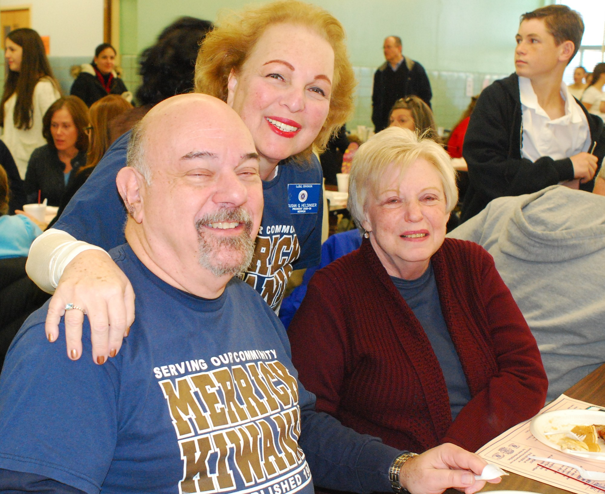 Kiwanian Bernie Stein and his wife, Marlene, right, enjoyed their breakfast. They were joined by, at back, Kiwanian Susan Helsinger.