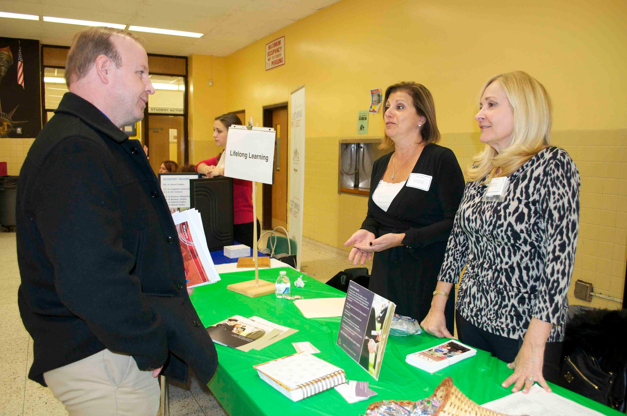 Representatives from Lifelong Learning spoke with dozens of students and family members during Bellmore-Merrick's annual SEPTA College Night for students with learning disabilities.