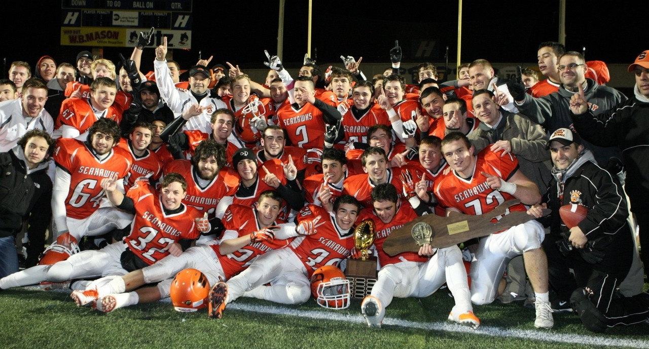 Carey made history Friday by winning its first-ever Long Island football championship, 20-6 over Riverhead.