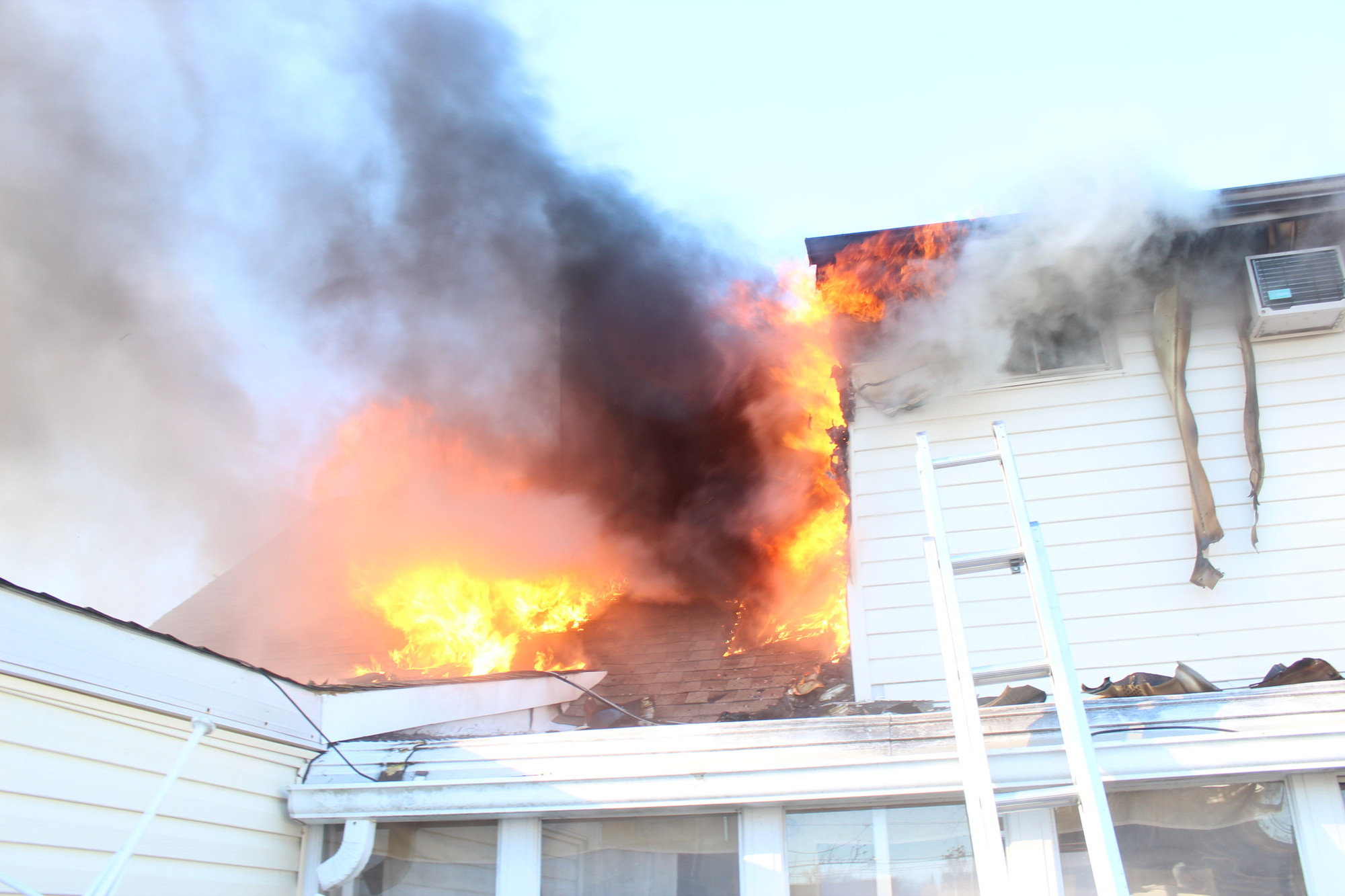 Bellmore Fire Department officials said much of the damage from the fire was concentrated on the second floor of the Ziv's home.