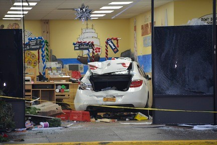 The Buick sat near the checkout counters inside Trader Joe�s in Oceanside on the afternoon of Nov. 6, after a women driver plowed into the store that afternoon.