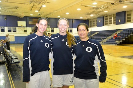 Oceanside girl's co-captains Paige Seitz , Veronica Miller, Jeannie Callanan at the Heyman Memorial Festival last weekend.