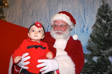 Julianna Fitanzo, 10 months, visited Santa for the first time.