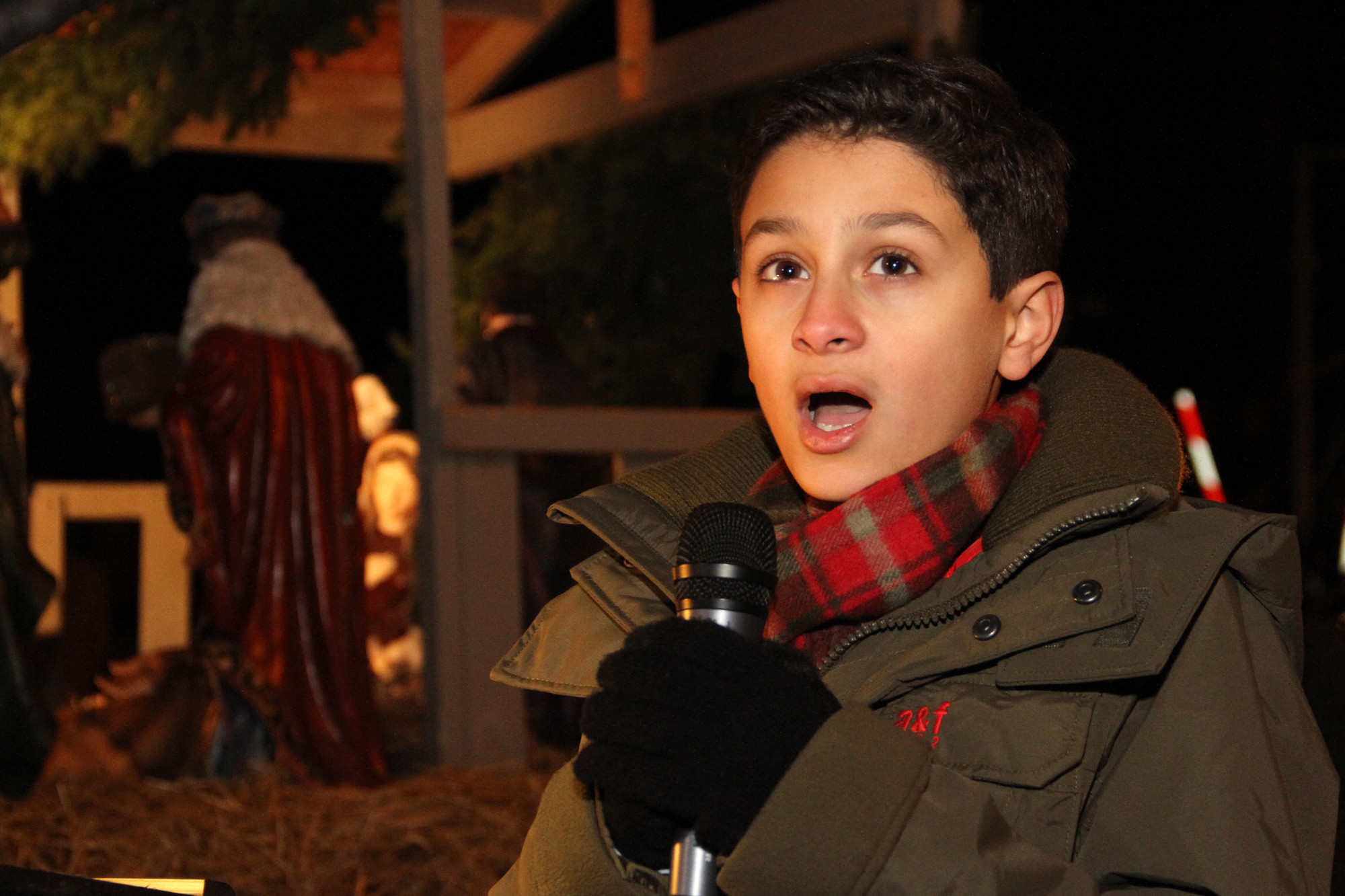 "Benjamin Truncale performed ""Ave Maria"" to ring in the holiday."