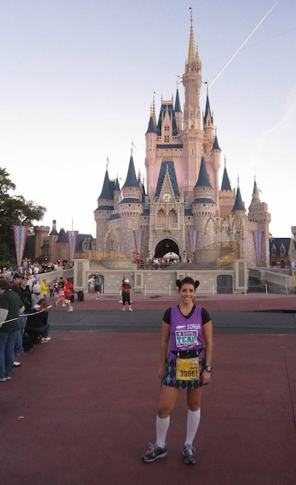 Doreen Grace, shown during the half marathon she ran at Walt Disney World in 2011, will be running in the full marathon on Jan. 12 to raise money for the Leukemia and Lymphoma Society.