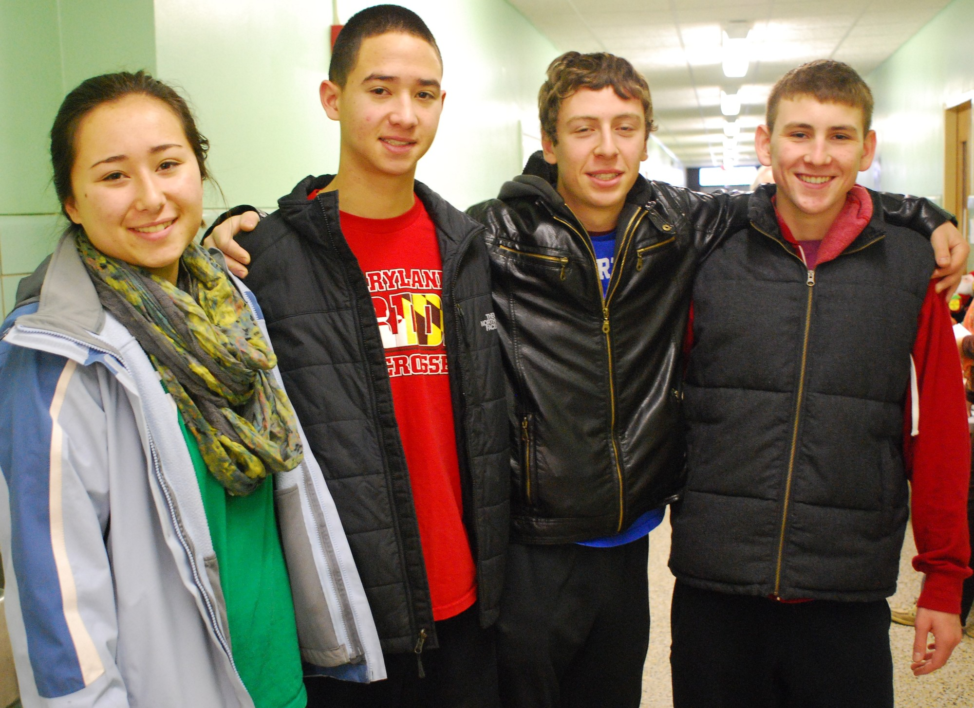The Key Club's officers — sister and brother Marie and Patrick Chin, Eric Ravens and Thomas Macaluso — were among the volunteers lending a hand on Sunday.