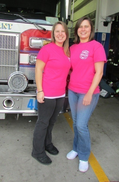 Suzanne Torborg, left, and Amber LauKaitis are with Viglilant Engine Co. No. 1