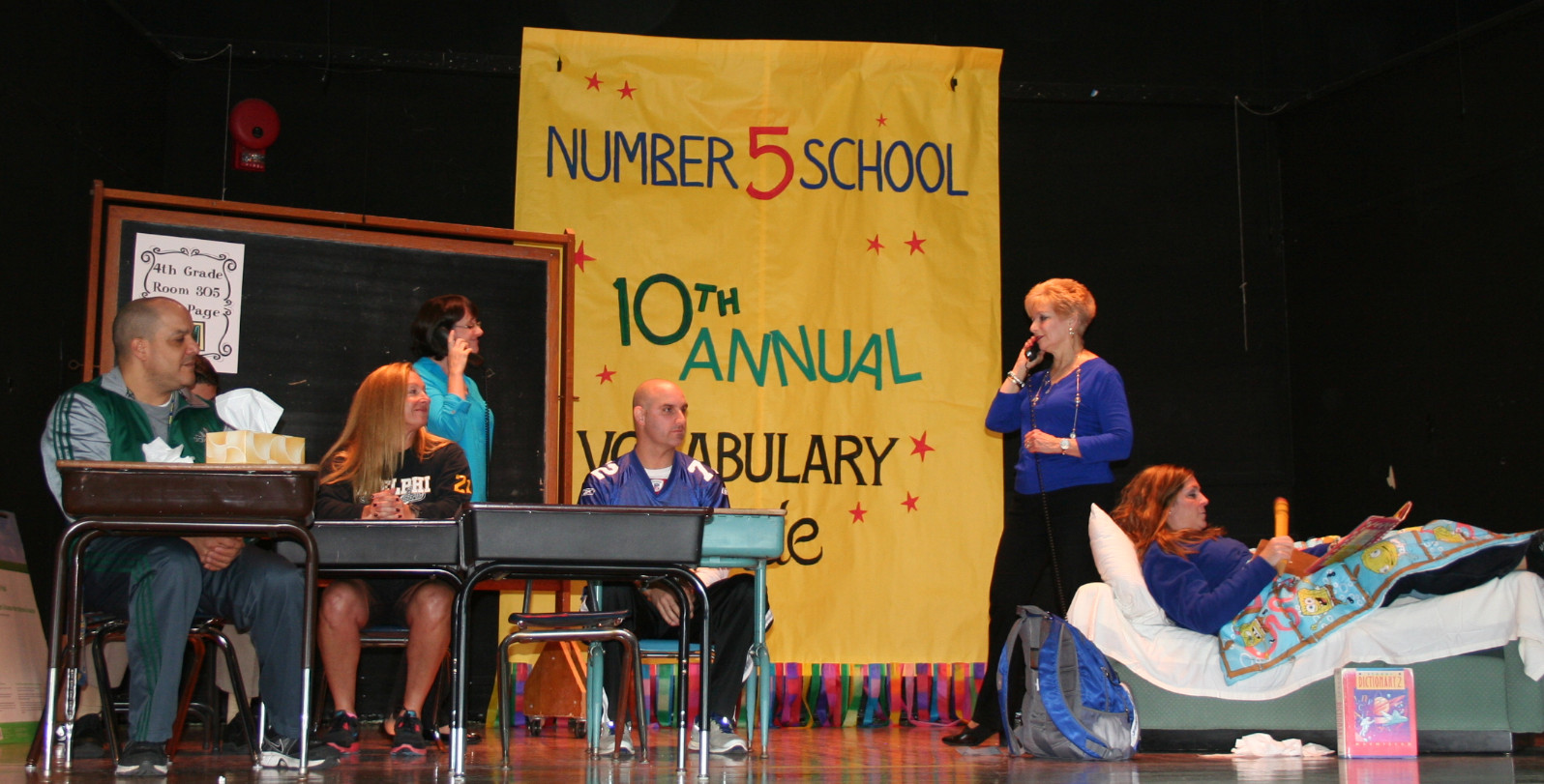 Number Five School teachers and staff brought to life the Debra Fraiser book �Miss Alaineous: A Vocabulary Disaster� during a literacy assembly.