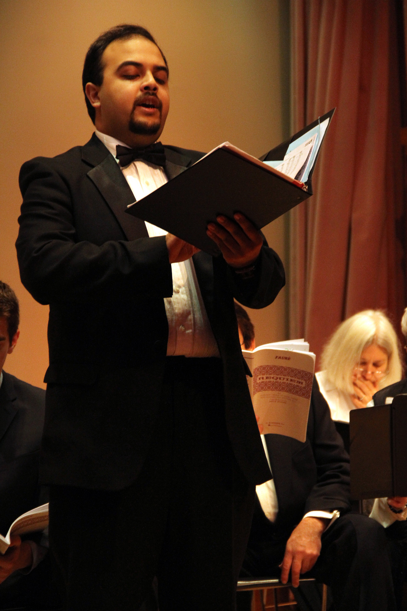 Tenor Nobeen Loqman was one of the few guest singers that joined the United Choral Society for its performance at the Hewlett-Woodmere Public Library.